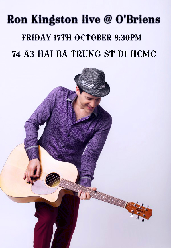 Australian singer Ron Kingston live at O'Briens Saigon Vietnam